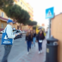 Volontari all'istituto Baccaredda di Cagliari per i Diritti Umani