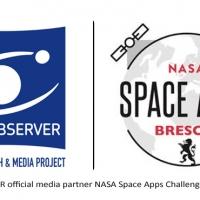 Il progetto di divulgazione scientifica COSMOBSERVER media partner della NASA Space Apps Challenge di Brescia