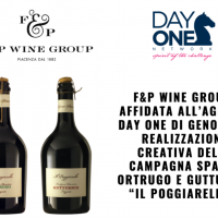 """F&P Wine Group: Affidata all'agenzia Day One di Genova la realizzazione creativa della campagna Spaghi Ortrugo e Gutturnio """"Il Poggiarello """""""