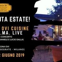 Questa sera cena à la carte a Cascina Ovi (Segrate) e PiGiaMa in concerto per dare il benvenuto all'estate