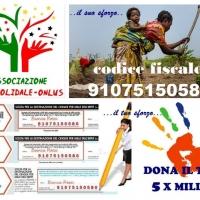 """L'ASSOCIAZIONE """"VENTO SOLIDALE – ONLUS"""" IMPIEGA AL 100% LE DONAZIONI  A FAVORE DEI PROGETTI DI SOLIDARIETA' !!!"""