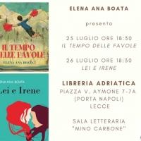 Libri: il 25 e il 26 luglio a Lecce incontro con l'autrice Elena Ana Boata