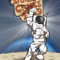 Spiaggia lunare e panchina a fumetti per i 25 anni di SpotornoComics