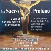 La mostra Tra sacro e profano inaugura al Museo Crocetti con la curatela di Nicoletta Rossotti e Salvo Nugnes