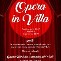 """""""Concerto in Villa"""" per celebrare La giornata mondiale della Pace"""