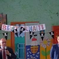Mariglianella Festa dell'Accoglienza alla Scuola dell'Infanzia con il saluto del Sindaco Felice Di Maiolo.