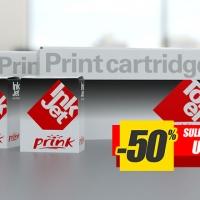 Cartucce per stampanti Prink dal 23 al 28 settembre sconto 50% sul secondo pezzo