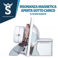 Risonanza magnetica aperta sottocarico in piedi G-SCAN installata al Sanem 2001