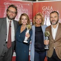Claudia Gerini e Massimiliano Gallo premiati alla presentazione del Gala Cinema e Fiction in Campania XI Edizione