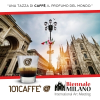 "101CAFFE' A BIENNALE MILANO - INTERNATIONAL ART MEETING ""L'arte incontra la cultura del caffè"""