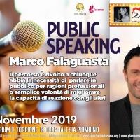 PUBLIC SPEAKING  con l'attore Marco Falagusta