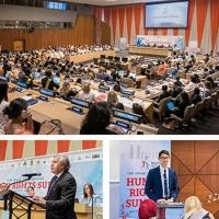 Gioventù per i Diritti Umani celebra nel Palazzo di Vetro il 70esimo della Dichiarazione Universale dei Diritti Umani dell'ONU