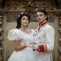 Jennifer Mischiati e Francesco Ferdinandi nei panni di Sissi e di Francesco Giuseppe al Palazzo Brancaccio di Roma