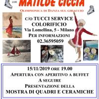 Vernissage di dipinti e ceramiche per l'olimpionica della danza sul ghiaccio Matilde Ciccia