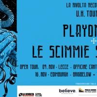 Sabato 9 Novembre Playontape e Le Scimmie sulla Luna in concerto - Presentazione in anteprima a Lecce del Tour in UK 2019