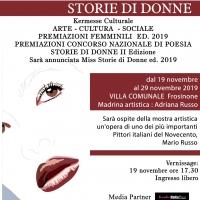 """A Frosinone la Quinta Edizione di """"Storie di Donne"""""""