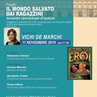 La Fondazione Premio Napoli ospita lunedì 11 novembre al Palazzo Reale di Napoli il II incontro d'autore del progetto «Il mondo salvato dai ragazzini», con l'autrice Vichi De Marchi