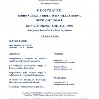 """LA """"NUOVA"""" REVISIONE LEGALE NELLE """"NANO-IMPRESE"""":  TUTTE LE NOVITÀ IN UN CONVEGNO PROMOSSO DALL'ODCEC SALERNO"""