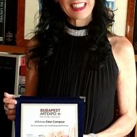 La pittrice Campey riceve il Premio città di Budapest