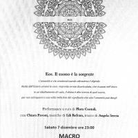 EOS al Macro, performance a cura di Flora Contoli con Chiara Pavoni