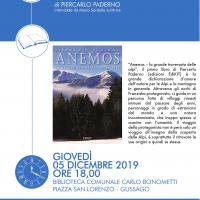 """Giovedì 5 dicembre presentazione libro """"ANEMOS La grande traversata delle Alpi"""" di Piercarlo Paderno"""
