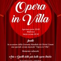 Padova: Opera in villa – Aree e duetti delle più belle opere liriche per celebrare la Giornata Mondiale Per i Diritti Umani