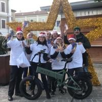 La via della felicità, in versione natalizia, come augurio di Buon Natale per i cittadini di Senigallia
