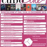 """Da oggi al 22 dicembre nella splendida cornice di Ronciglione si svolgerà la nuova edizione di """"Cubo Cine Festival 2019"""", contenitore culturale dedicato al cinema e l'audiovisivo."""