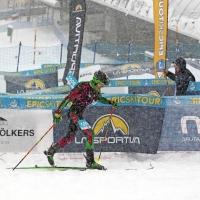 SCHNEIDER (SUI) E GIULIA COMPAGNONI A DAVOS. NELL'OUVERTURE DELL'EPIC SKI TOUR DI SKIALP