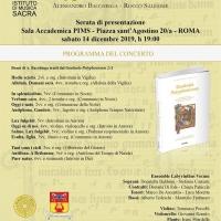 """"""" Graduale Polyphonicum, vol2/A – tempus Nativitatis"""" – Libro di Alessandro Bacchiega e Rocco Salemme"""