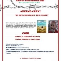 IO CHE CONOSCO IL TUO CUORE, sabato a Cori la presentazione del libro di Adelmo Cervi