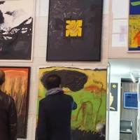 Gastone Bai a Roma per la rassegna d'arte contemporanea in memoria di Dario Fo