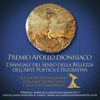 L'Annuale Internazionale Romana Apollo dionisiaco invita alla celebrazione del senso della bellezza di Poesia e d'Arte Contemporanea. Per Poeti e Artisti di ogni età, formazione e nazionalità.