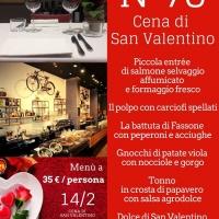 Cena di San Valentino al N76: trionfa l'amore per il gusto