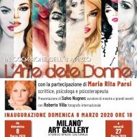 Milano Art Gallery: la donna nell'arte, la donna e l'arte con Parsi, Nugnes e Villa