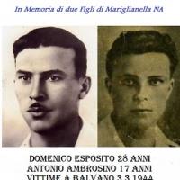 -Mariglianella e Brusciano, Tracce di Memoria della tragedia di Balvano del 3 marzo 1944. (Scritto da Antonio Castaldo)