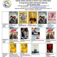 16^ edizione del Premio Cinema Giovane e Festival delle Opere Prime