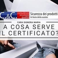 A cosa serve il certificato?