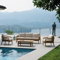 Set Lipsia di Greenwood.  Uno stile naturale per l'outdoor moderno.
