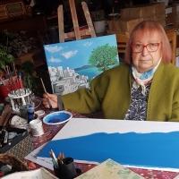Al Tgcom24 l'artista Anna Actis Caporale di Spoleto Arte