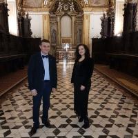 Il soprano Olga De Maio ed il tenore Luca Lupoli, due voci lontane, ma unite in un appello all'Italia
