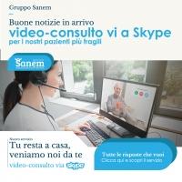 Gruppo Sanem  - Poliambulatori a Roma – ti sono vicino attivando un nuovo servizio di video-consulto