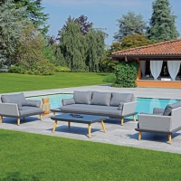 Set Houston di MOIA – Your Home Outdoor. Comfort ed eleganza per il giardino contemporaneo.