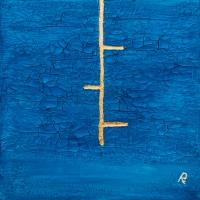 L'antica tradizione del colore blu nella pittura di Roberto Re