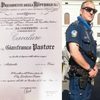 Gianfranco Pastore, Guardia Giurata, Cavaliere al Merito della Repubblica Italiana.