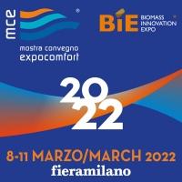 MCE - MOSTRA CONVEGNO EXPOCOMFORT E BIE – BIOMASS INNOVATION EXPO RIPROGRAMMATE: APPUNTAMENTO DALL'8 ALL 11 MARZO 2022