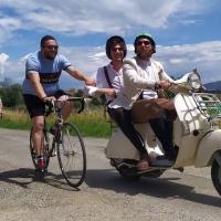 """""""Chianina Covid"""", la Valdichiana diventa un set per il ciclismo vintage"""