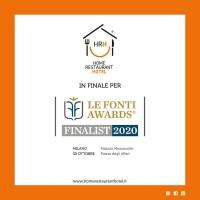 "Home Restaurant Hotel finalista al ""Le Fonti Awards 2020"""