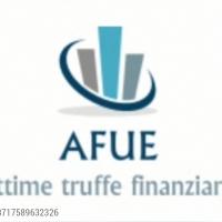 """AFUE Associazione vittime di truffe finanziarie e le azioni collettive in corso, oltre alla normale attività nei confronti dei """"Broker truffa"""""""