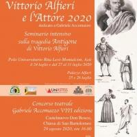 VITTORIO ALFIERI E L'ATTORE 2020 Seminario e concorso teatrale Fondazione Gabriele Accomazzo